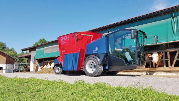 Lors de l'Agritechnica, Siloking a présenté, pour la première fois, l'eTruck 1408.