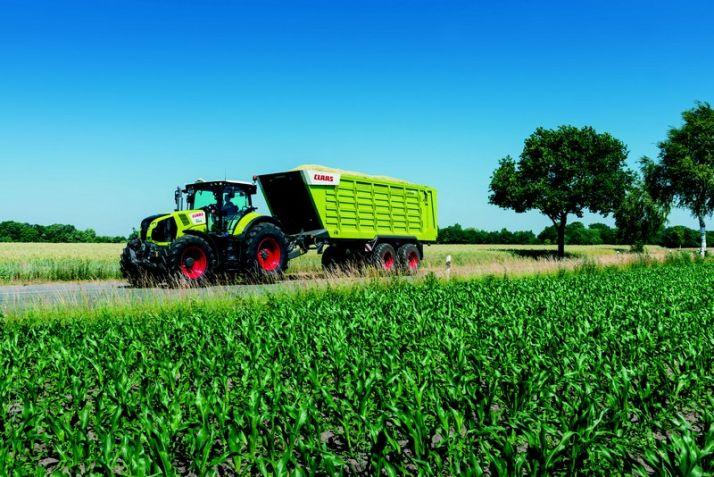 Les Cargos 700 pour le transport chez Claas. Photo: Claas