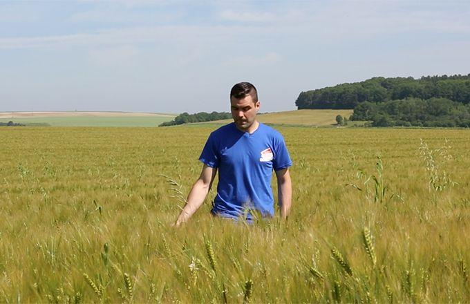 Graines d'agriculteurs : Antoine Bontant, céréalier à Abainville (55). © T&V Productions