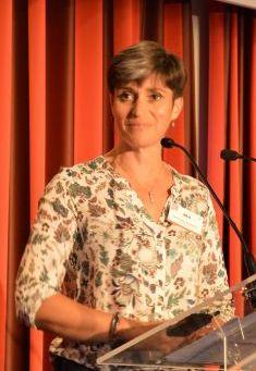 Céline Ballesteros, ingénieur stewardship environnement chez Bayer, lors de l'évènement Jour de Maïs. Crédit C.Even/Pixel_images