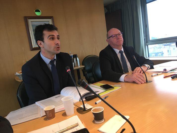 Conférence de presse campagne 2017 CGB. À gauche Pierre Rayé, directeur général et à droite Éric Lainé, président.