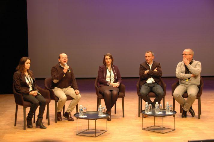 Diana Pocaznoi (BASF), Olivier Cor (Lallemand Plant Care), Aline Brutel (Biovitis), Emmanuel Pajot (Agrauxine) ont présenté leurs solutions de biocontrôle.