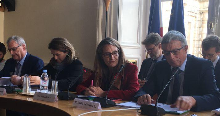 crédit: H.Sauvage/Média et Agriculture. De gauche à droite, Michel Raison, Anne-Catherine Loisier, Sophie Primas et Daniel Gremillet