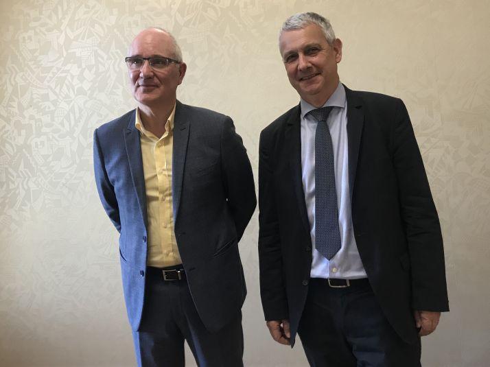 Franck Berger président de l'UFS et Claude Tabel, vice président de l'UFS