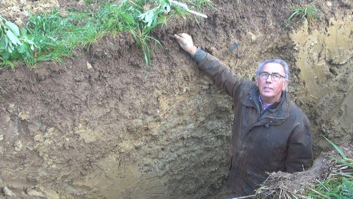 Plus un sol est vivant, plus la terre reste « accrochée » aux racines. Crédit photo : Mathieu LECOURTIER / Média&Agriculture