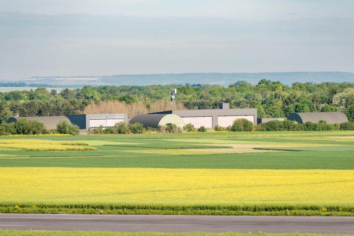 La plateforme Syppre en terres de craies de champagne sur le site de Terrasolis dans la Marne. Crédit Photo : Terrasolis