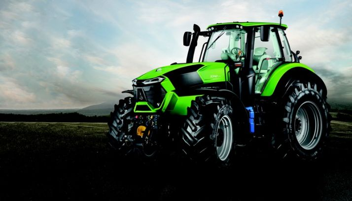 "Le 9340 TTV a reçu le ""golden tractor for the design"". Photo : Deutz-Fahr"