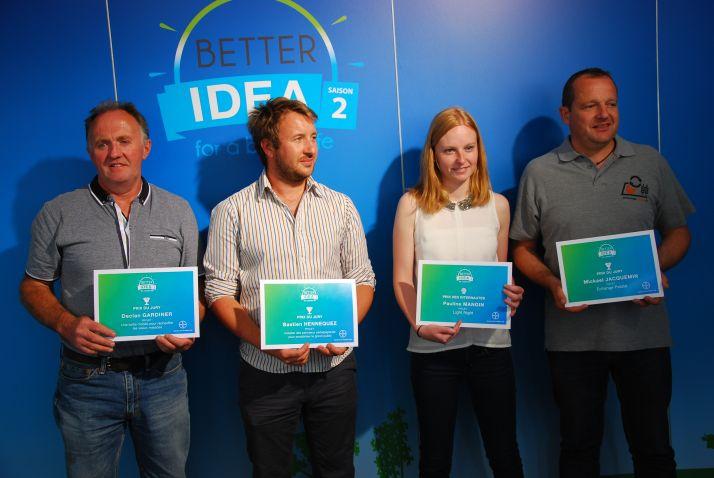 Quatre des cinq lauréats de Better Idea saison deux affichent des projets en grandes cultures. © M. Lecourtier/Pixel Image