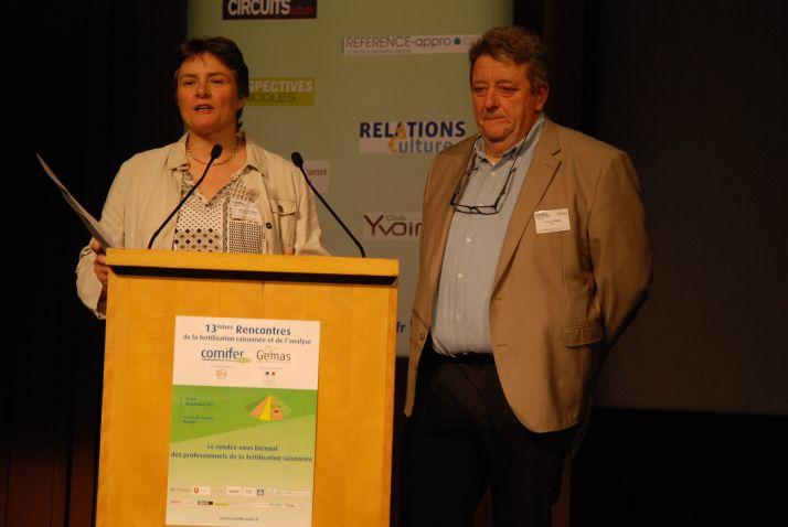 Christine Le Souder d'Arvalis-Institut du Végétal et François Servain du LDAR.