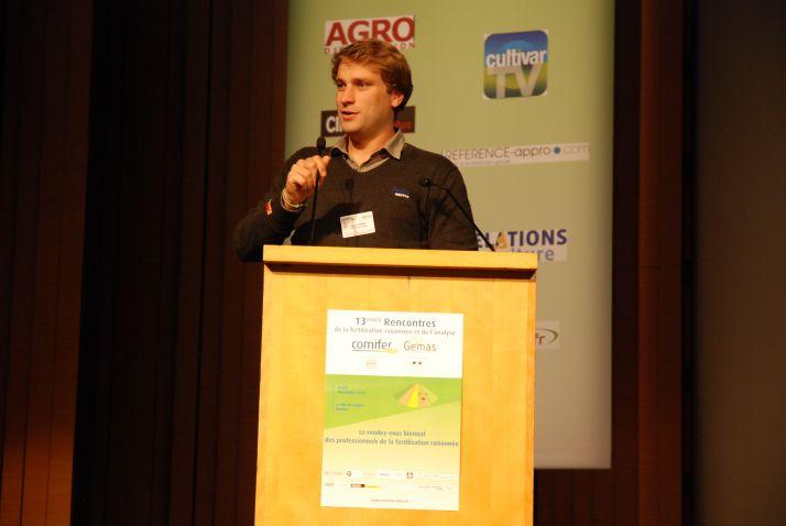Baptiste Soenen, ingénieur services du pôle agronomie d'Arvalis-Institut du végétal.