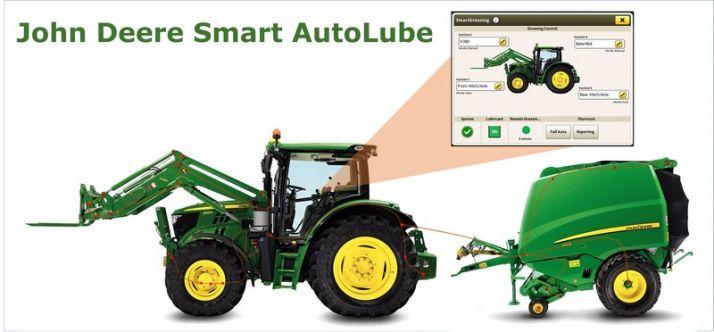John Deere propose un système intelligent pour le graissage du tracteur et des outils. Photo: John Deere