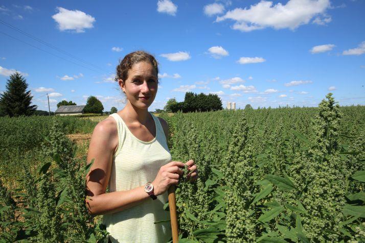 """Marion Breteau lauréate du concours Graines d'Agriculteurs dans la catégorie """"acteur du lien social""""."""