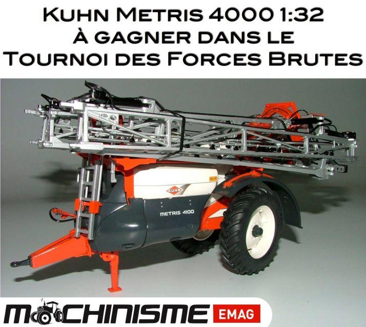 Une miniature 1/32e du Kuhn Metris à gagner. Photo: F.Roussel/Pixel Image