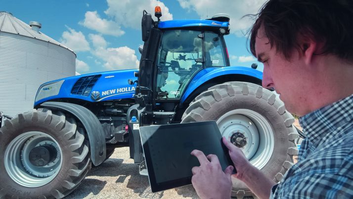 """Les robots : mes alliés du quotidien !"". © New Holland"