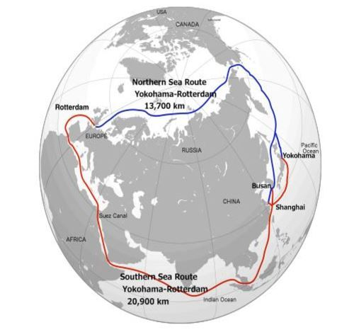 Northern Sea Route crédit: Netherlands Bureau for Economic Policy Analysis