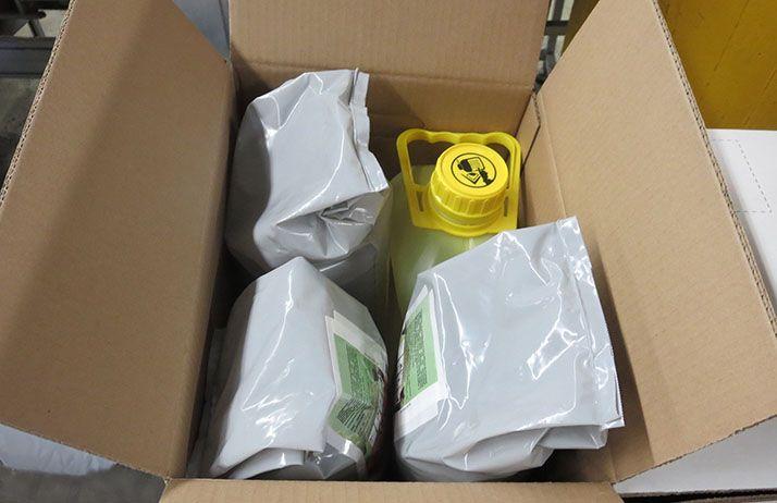 Pour lutter contre septoriose, rouilles et oïdium en céréales, BASF France Agro lance un pack associant un produit de biocontrôle (Jubile®, spécialité à base de soufre DF) avec du metconazole (Juventus). © BASF Agro