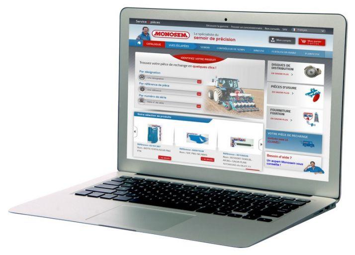 Monosem lance un nouveau site de service. Photo: Monosem