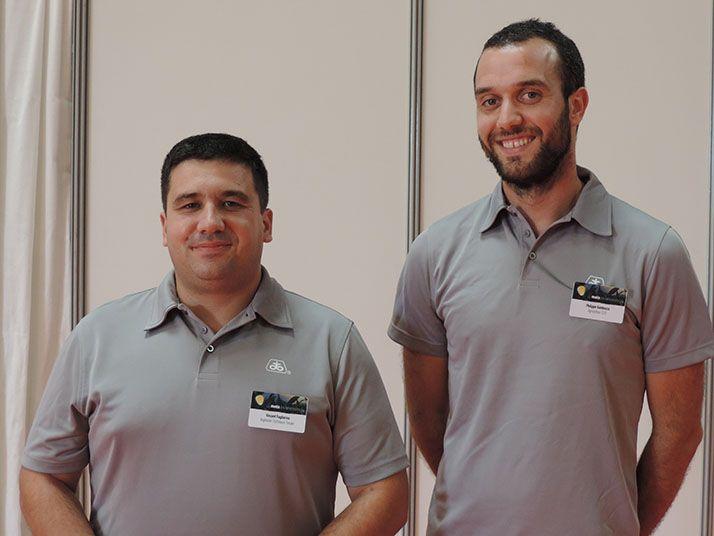 Philippe Gambazza (à droite) accompagné de son conseiller technique. © Pixel Image