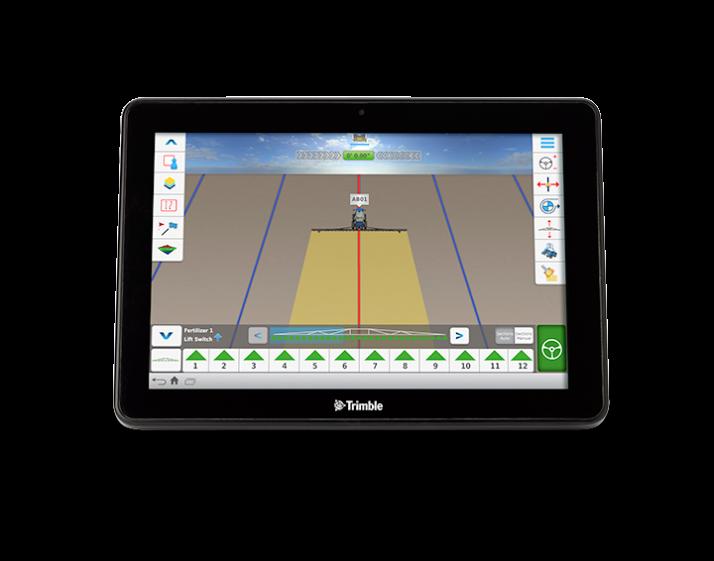 Android et applications mobiles disponible sur la Trimble TMX-2050. Photo: Trimble