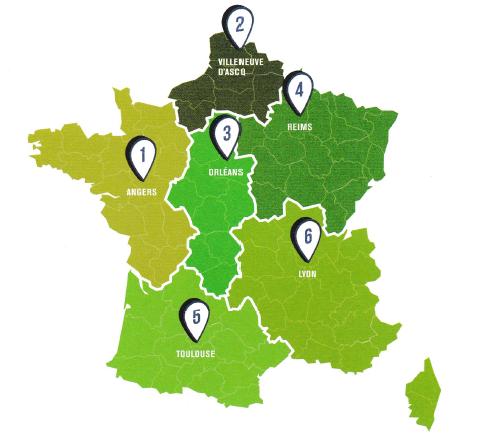 Les régions du GNIS. DR