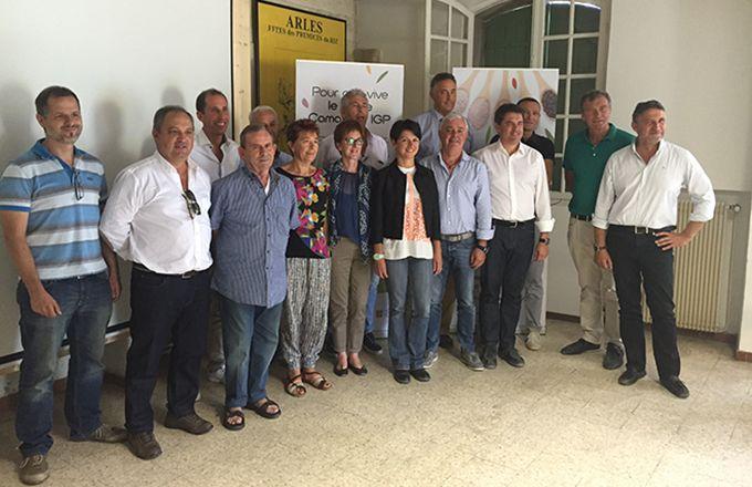 Bertrand Mazel (à droite), nouveau président de l'Union des producteurs riziculteurs européens. Photo : DR