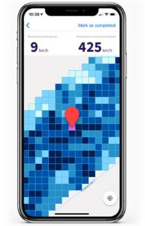 L'outil d'agriculture de précision Atfarm permettant de moduler les doses en intraparcellaire est directement opérationnel sur smartphone.