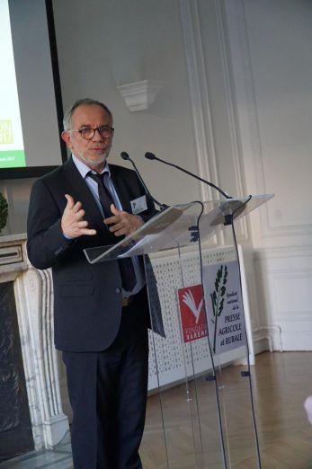 Éric Andrieu, député européen, assurait la défense du programme de Benoit Hamon pour le Parti Socialiste.