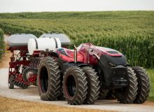 Le Sima met la gomme. Photo: Case IH