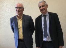 Franck Berger président de l'UFS et Claude Tabel, vice président de l'UFS.