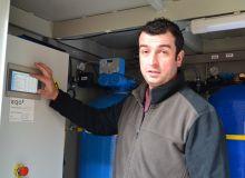 Jean-Guy Dequidt a investi en avril 2019 dans une station Eqo afin de conditionner l'eau de pulvérisation.