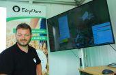 David Joulin, co-fondateur d'Ekylibre devant l'un des écrans du logiciel Ekylibre. © M. Lecourtier/Pixel image
