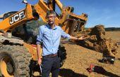 Vincent Tomis, chef de projet au sein d'Agro-Transfert RT, décrivant un mini-profil 3D