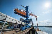 Crédit Sénalia. Grâce aux investissements réalisés sur les portiques de déchargement en 2015. La capacité de déchargement de Sénalia a été portée à  10 000 t/jour.