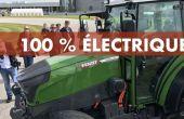 Tracteur électrique Fendt.